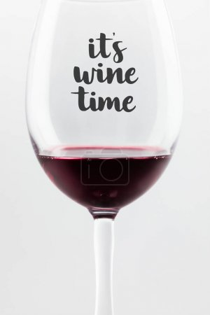 red wine in glass