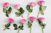 "Постер, картина, фотообои ""розовый фон роз"""