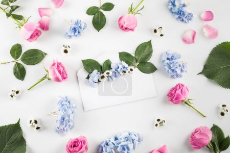 envelope with beautiful flowers