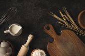 Bakery ingredients and kitchen utensils