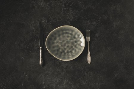 silverware and plate