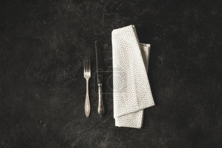 antique tableware and linen