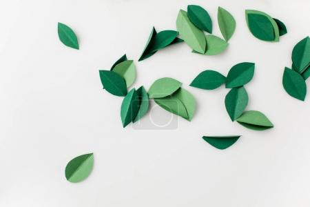 heap of green paper leaves