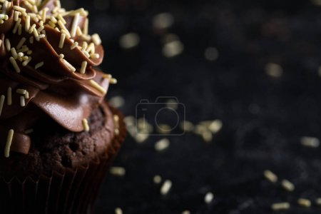 chocolate cupcake with frosting