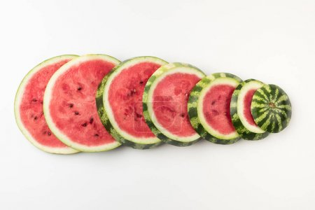 watermelon slices in row