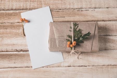 Christmas card and present