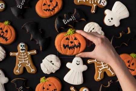 various decorative halloween cookies