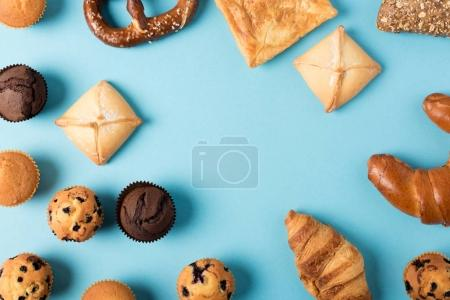 various homemade pastry