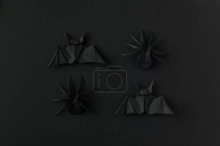 halloween origami bats and spiders
