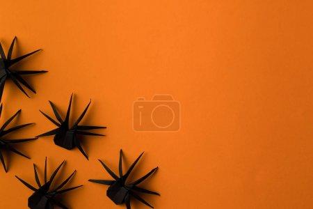 black origami spiders