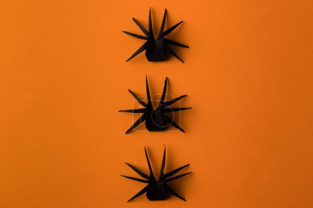 Origami spiders for halloween