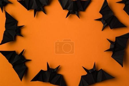 halloween frame with bats