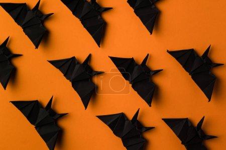 texture with halloween origami bats