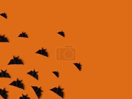 black origami bats