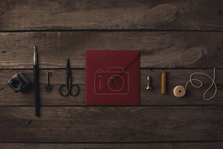 red envelope and decorative tools