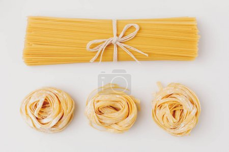 Photo for Top view of raw pasta composition - Royalty Free Image