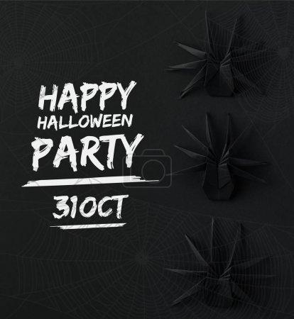origami halloween spiders