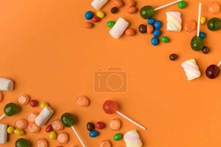 halloween candies and marshmallows