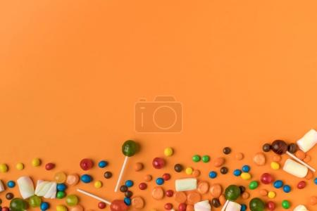 colorful halloween candies