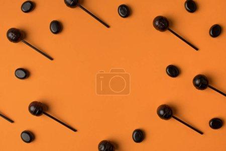 Black halloween lollipops