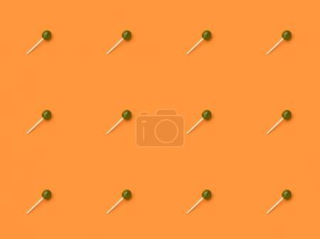 Green halloween lollipops