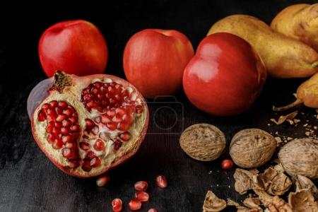 organic autumnal fruits