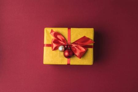 christmas gift with ribbon