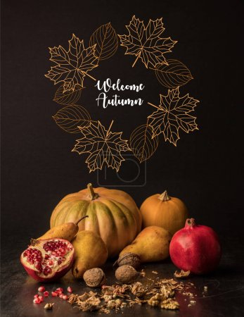 organic pumpkins and fruits