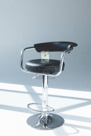Cocktail on bar stool