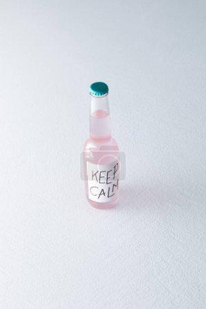 alcoholic beverage in bottle