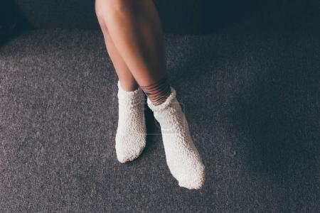 female legs in socks
