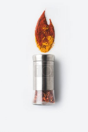 pepper grinder with paprika and curry