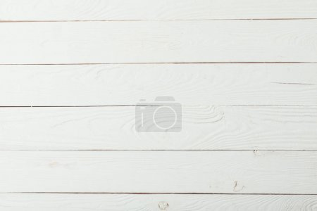 Photo for Wooden white grungy striped background - Royalty Free Image