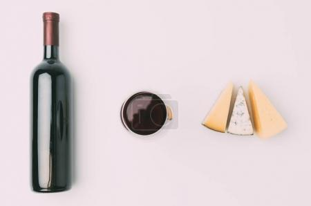 wine and various sliced