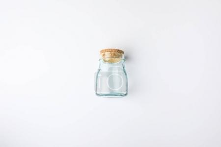 transparent glass bottle with bung