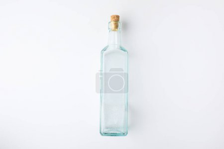 transparent glass bottle with plug