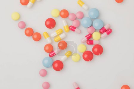 pile of colored pills