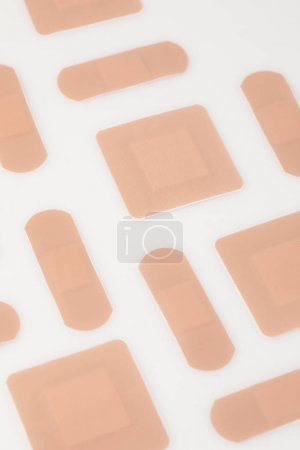 Set of beige plasters