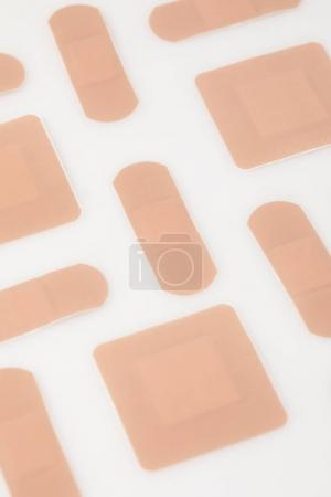 Set of beige patches
