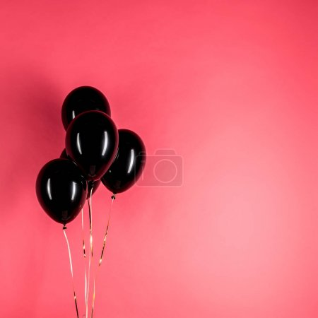 pack of black balloons