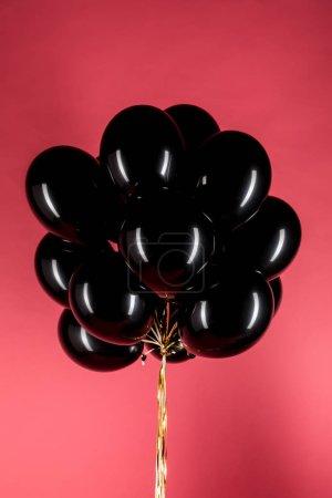 black shiny balloons