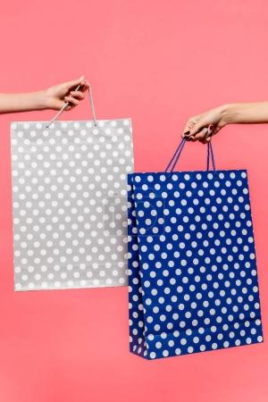 shopping bags in hands
