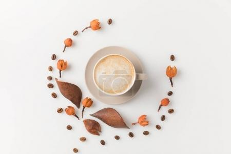 coffee cup with flowers