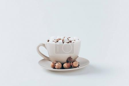 cacao with marshmallows and walnuts