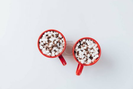 red cups with hot cacao