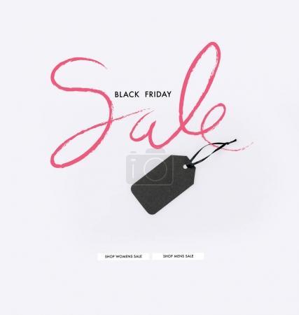 Photo pour Étiquette de prix noir isolé sur blanc - image libre de droit