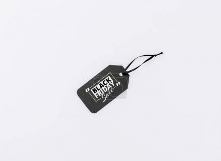Photo pour Étiquette prix noir isolé sur blanc - image libre de droit
