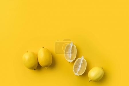 cut and unprocessed lemons