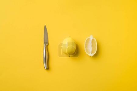 Knife and lemons