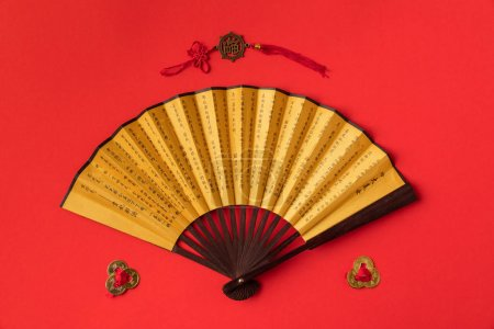Oriental fan and decorations